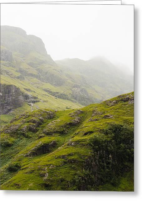 Foggy Highlands Morning Greeting Card by Christi Kraft
