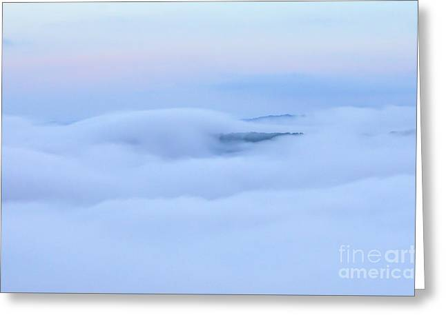 Greeting Card featuring the photograph Foggy Layers by Kerri Farley