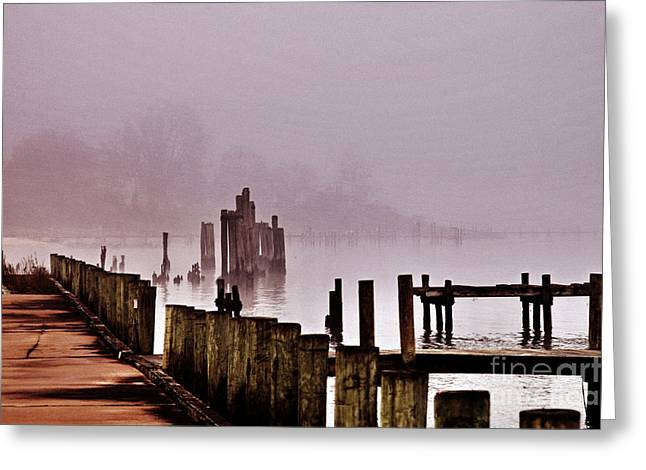 Foggy Morn Greeting Card by Clayton Bruster