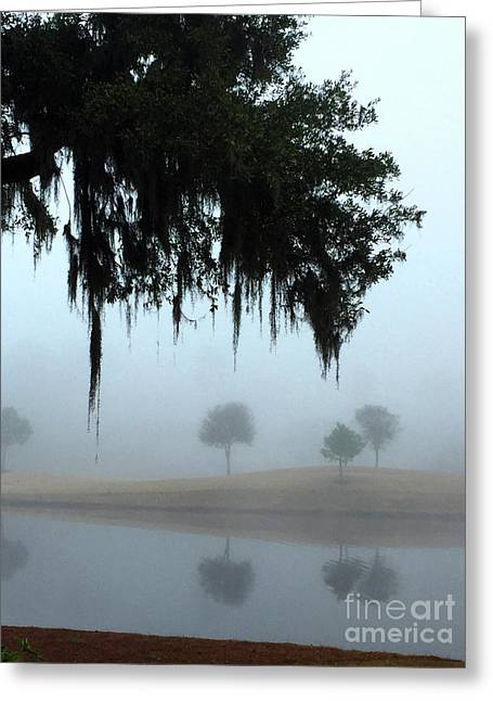 Greeting Card featuring the photograph Foggy Morn Reflections by Rick Locke