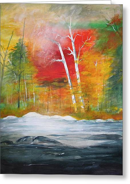 Foggy Morning 2 Greeting Card by Julie Lueders