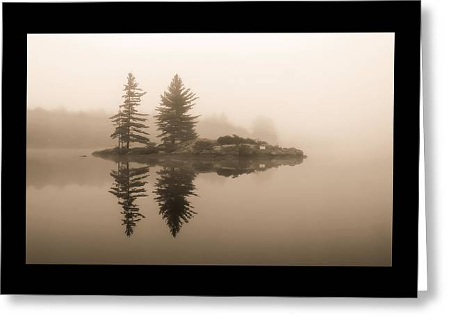 Foggy Morning Caution Greeting Card