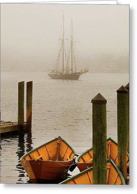 Foggy Morning In Gloucester Ma Greeting Card