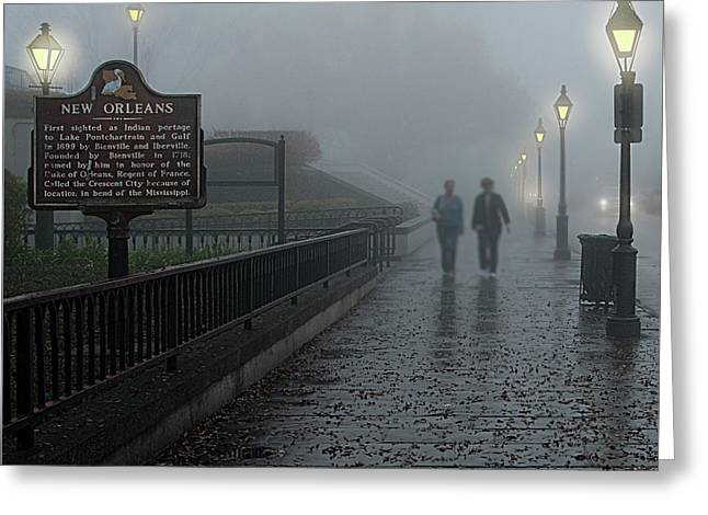 Foggy Morning In New Orleans Greeting Card