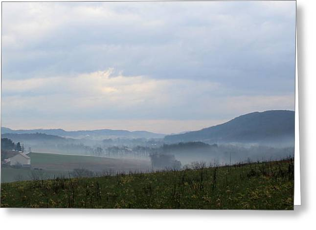 Foggy Morning In The Valley Greeting Card by Liz Allyn