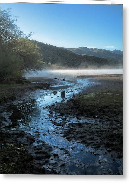 Foggy Morning On The Lake  Greeting Card by Saija Lehtonen