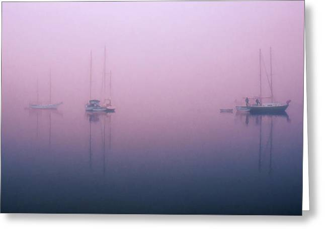 Greeting Card featuring the photograph Foggy Morning On The  Sassafras River by Richard Goldman