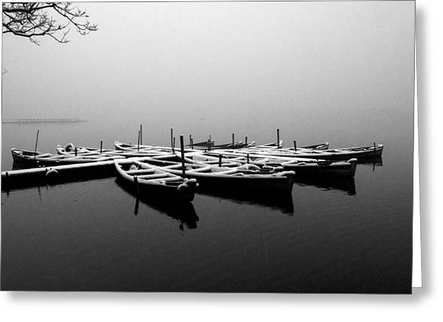 Foggy Morning On West Lake Greeting Card