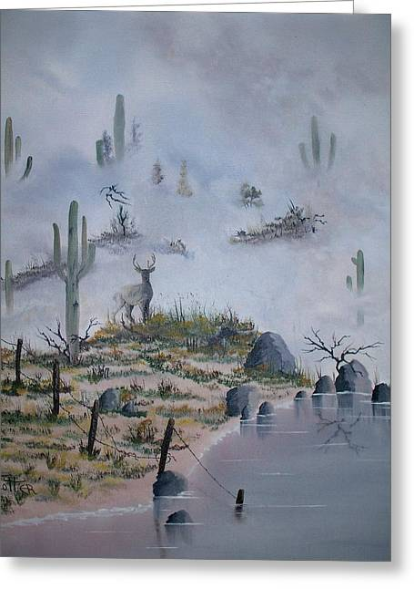 Foggy Morning Greeting Card by Patrick Trotter
