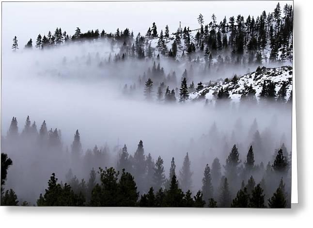 Foggy Mountain Pass Greeting Card