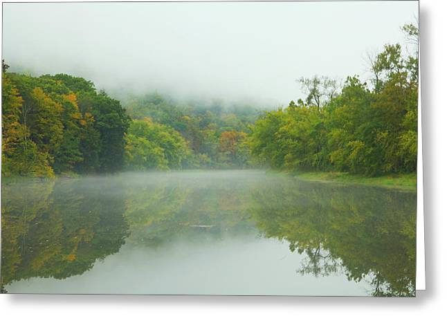 Foggy Reflections Greeting Card by Karol Livote