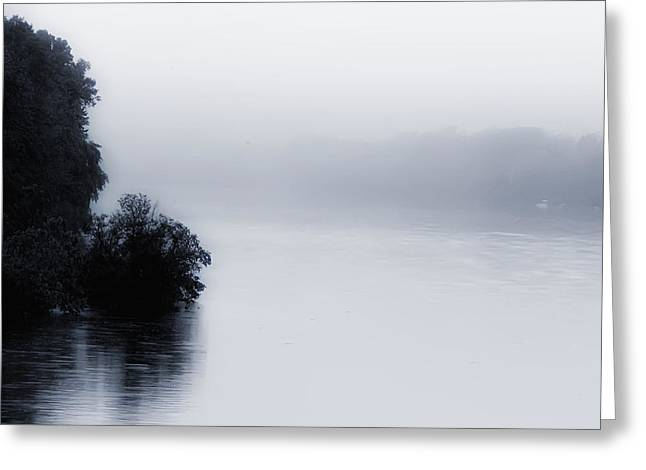 Foggy River Greeting Card by Bill Cannon