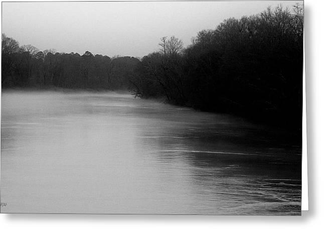 Foggy River Greeting Card by Jason Blalock