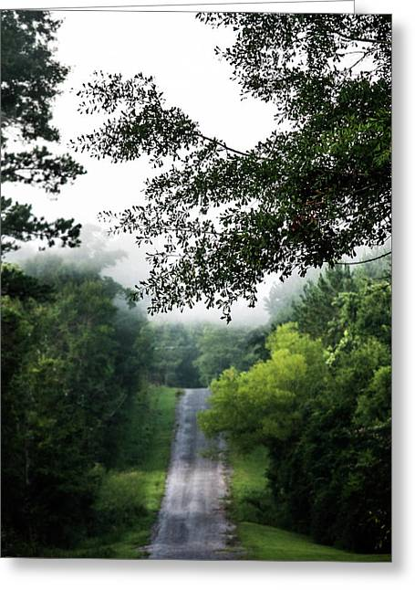 Greeting Card featuring the photograph Foggy Road To Eternity  by Shelby Young