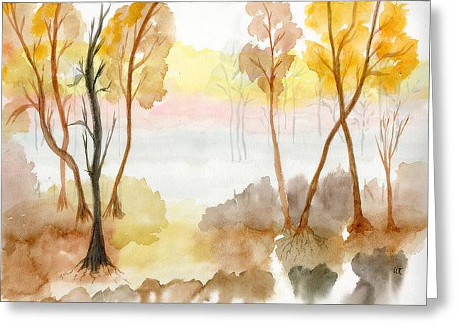 Foggy Suwannee Greeting Card by Warren Thompson