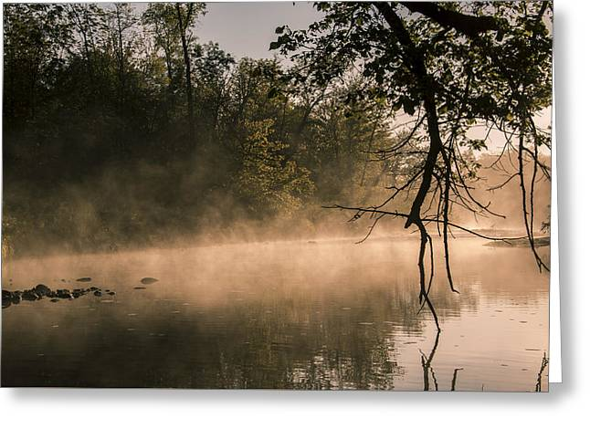 Foggy Water Greeting Card by Annette Berglund