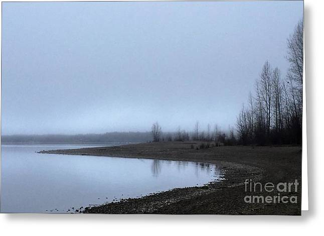 Greeting Card featuring the photograph Foggy Water by Victor K