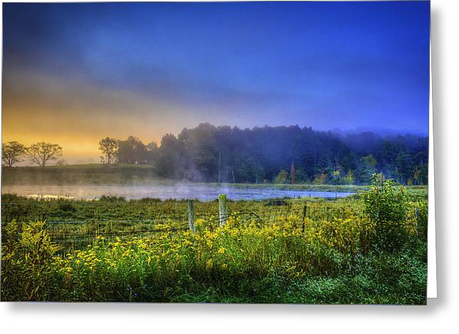 Fogy Sunrise  Greeting Card