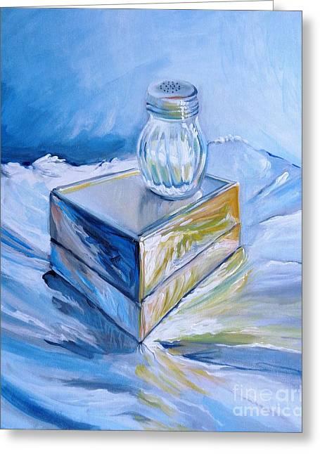 Foil, Silver Box, Salt Greeting Card by Vanessa Hadady BFA MA