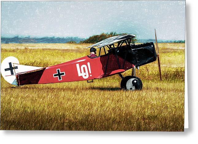 Fokker D Vii Greeting Card by James Barber