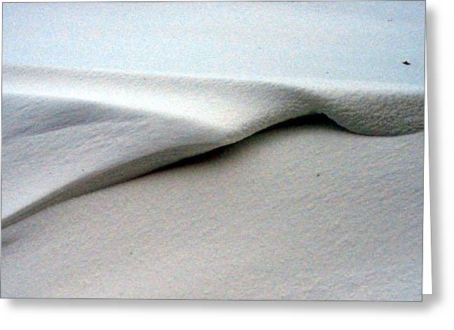 Greeting Card featuring the photograph Folded Over Snowdrift by Jack G  Brauer