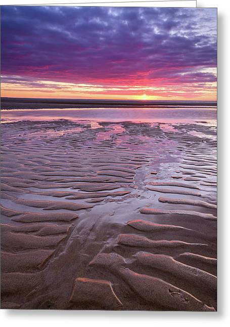 Folds In The Sand - Vertical Greeting Card