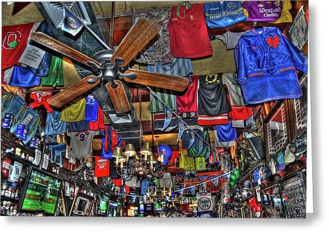 Sports Bar Greeting Cards - Foleys Pub in Manhattan Greeting Card by Randy Aveille