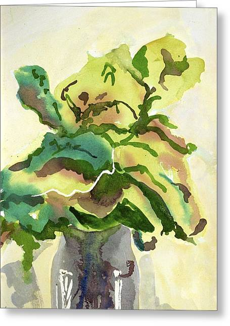 Foliage In Vase Greeting Card