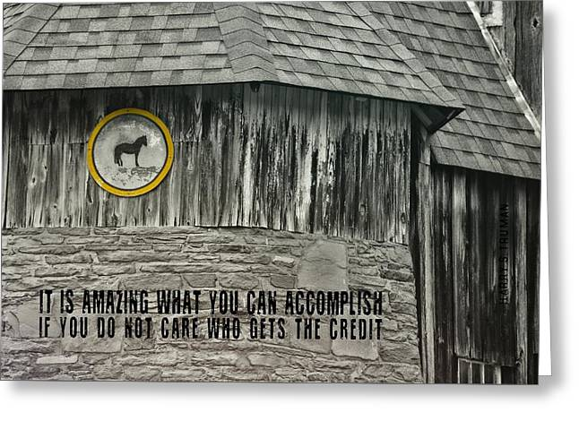 Folk Art Quote Greeting Card by JAMART Photography