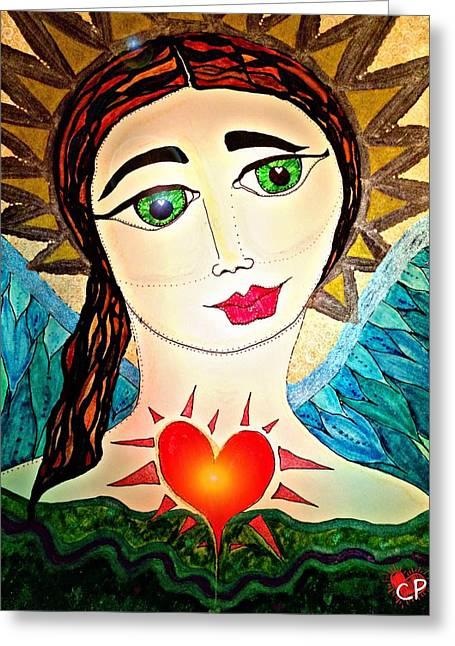 Folk Athena Greeting Card