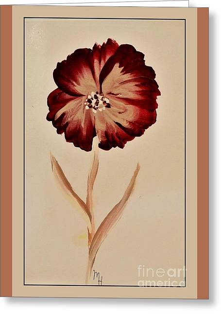 Folk Flower Greeting Card