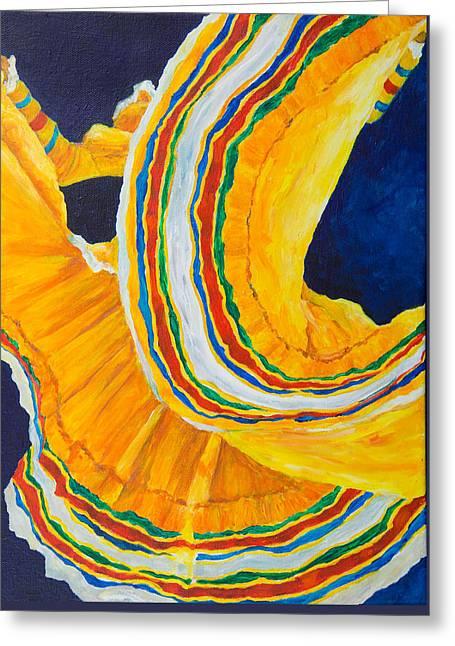 Folklorica In Yellow Greeting Card
