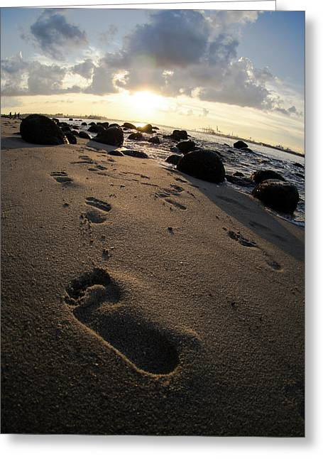 Follow In His Steps Greeting Card