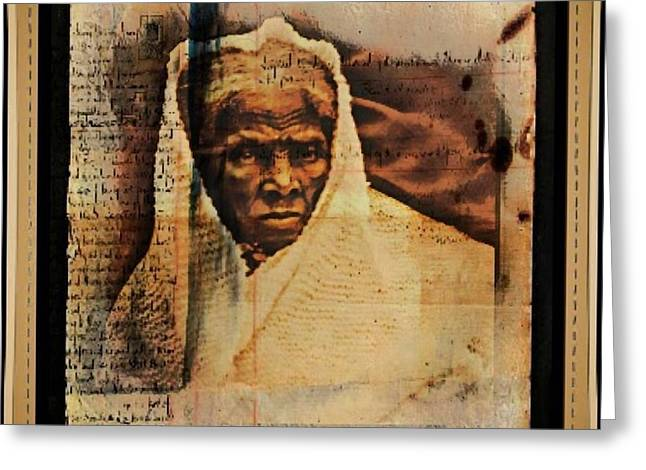 Follow The Drinking Gourd... Harriet Tubman Greeting Card by Ellen Cannon