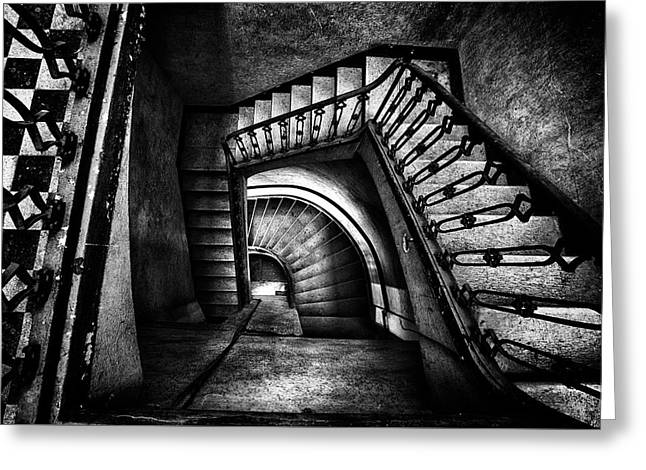 Greeting Card featuring the photograph Follow The Light by Dirk Ercken