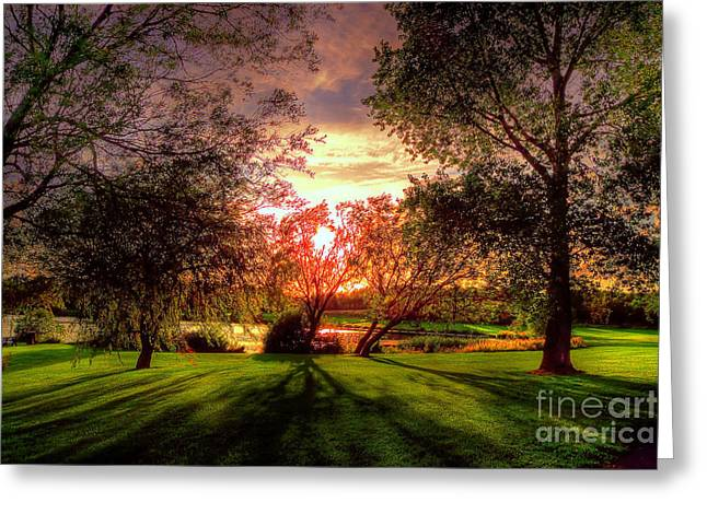 Follow The Light Greeting Card by Kim Shatwell-Irishphotographer