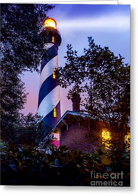 Follow The Light Greeting Card by Marvin Spates