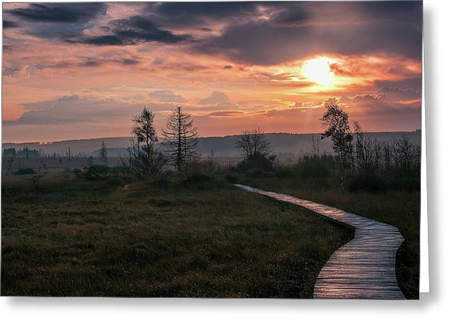 Follow The Path Greeting Card by Dominic Schroeyers