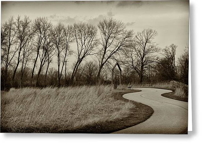 Greeting Card featuring the photograph Follow The Path by Elvira Butler