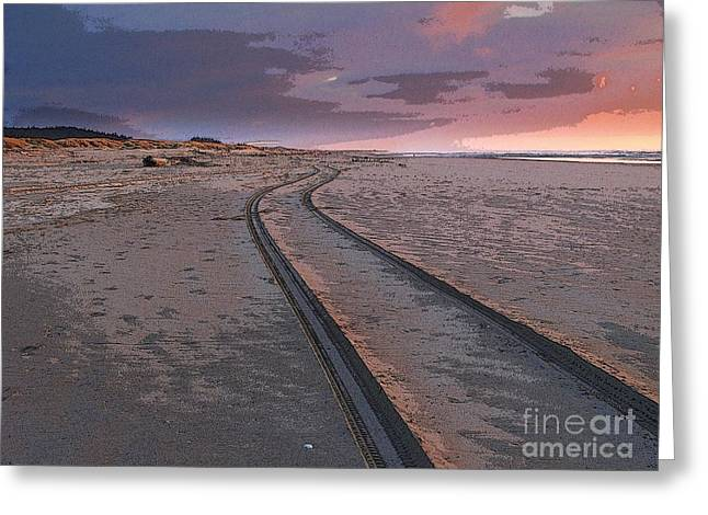 Follow The Sandy Road Greeting Card