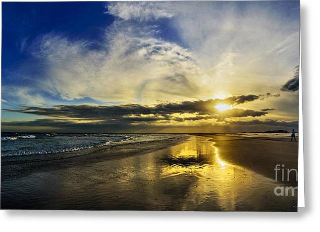 Greeting Card featuring the photograph Follow The Sun by DJA Images