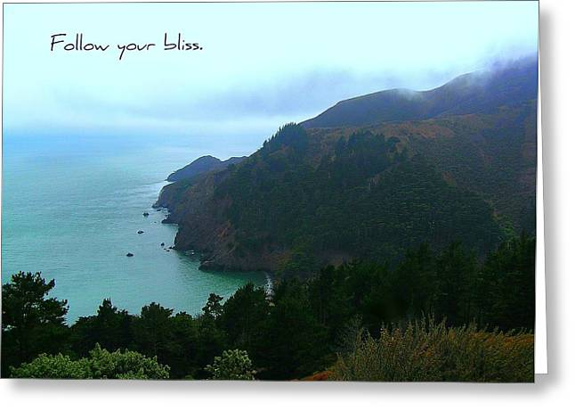 Motivational Poster Photographs Greeting Cards - Follow Your Bliss Greeting Card by Jen White