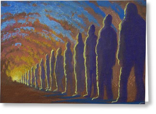 Followers Of The Light Greeting Card by Marjorie Hause