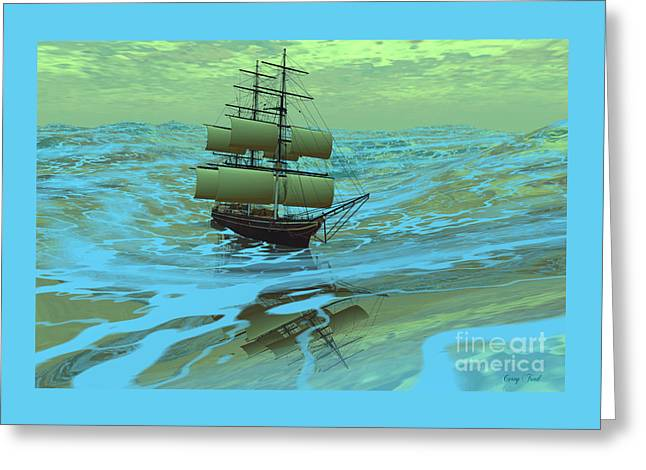 Following Sea Greeting Card by Corey Ford