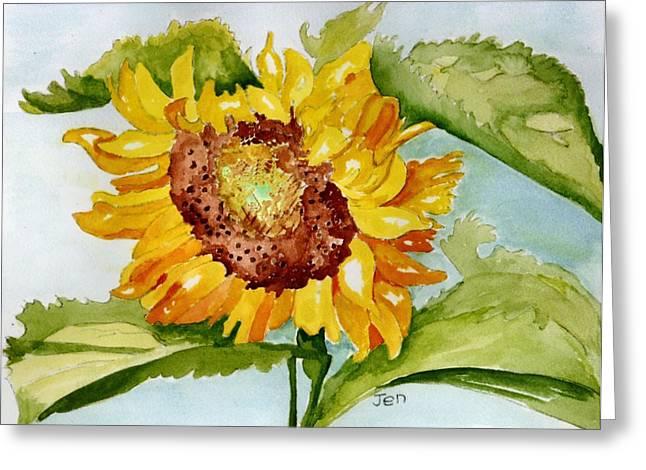 Following The Sun Greeting Card by Ann Gordon