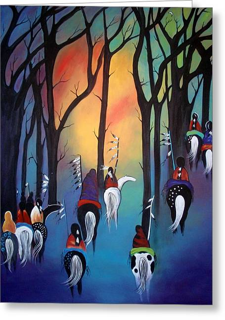 Following The Trail Of The Ancestors Greeting Card
