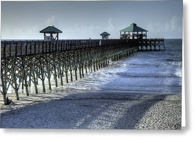 Folly Beach Pier Greeting Card by Dustin K Ryan