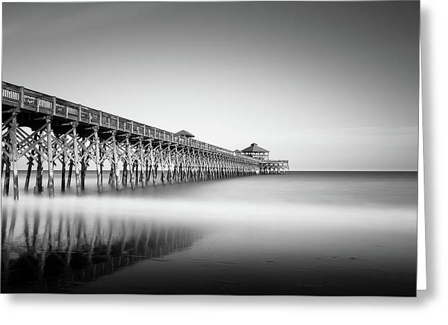 Folly Beach Pier Greeting Card by Ivo Kerssemakers