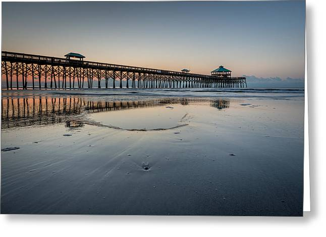 Folly Beach South Carolina Pier Greeting Card