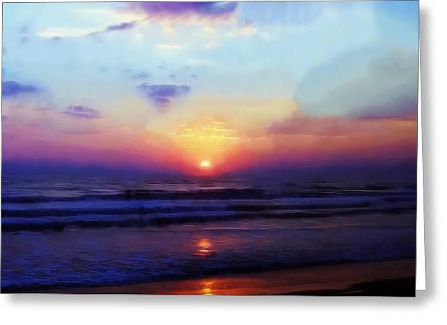 Folly Beach South Carolina Sunrise Greeting Card